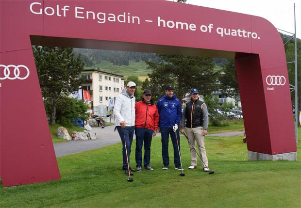 SKI WM 2017: Die Ski-Familie schwingt den Golfschläger (Foto: Stefanie Jüptner / Ski WM St. Moritz 2017)