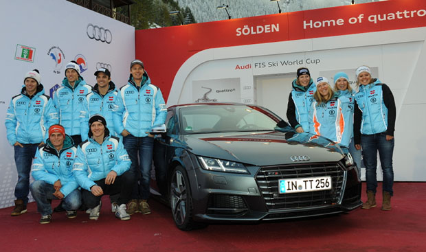 © Ch. Einecke (CEPIX) / Das DSV Team beim internationalen Audi Media Talk