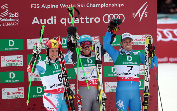 © AUDI AG  / Riesenslalom  Podest WM 2013