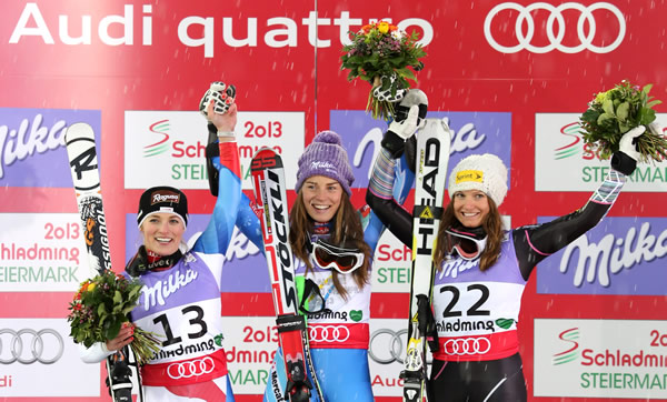 © Kraft Foods  /  SKI WM 2013 - Super G Podium
