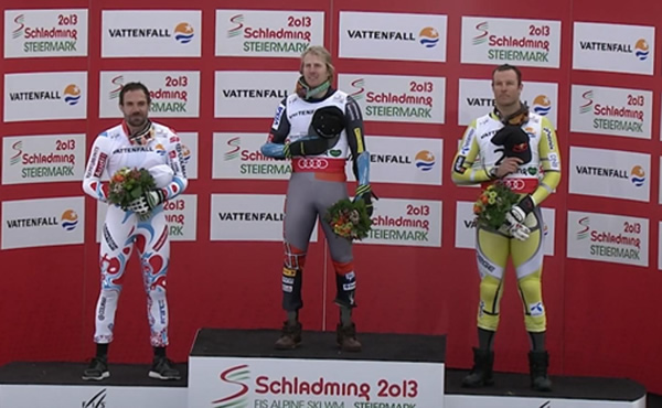 SKI WM 2013 - Super G Podium 2013