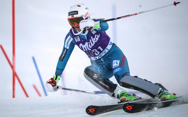 © Kraft Foods / Maren Skjøld schockt bei erstem EC-Slalom in Trysil Konkurrenz
