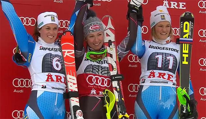 Mikaela Shiffrin gewinnt den Slalom der Damen in Are