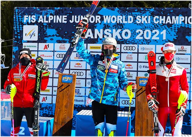 US-Amerikaner Benjamin Ritchie gewinnt Slalom-WM-Gold (Foto: © Facebook/FIS Alpine Junior World Ski Championships Bansko 2021)