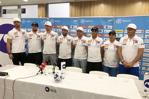 Sloweniens Herren-Speed-Team bereitet sich in Europa auf die kommende Saison vor. (© Foto: SloSki.si)