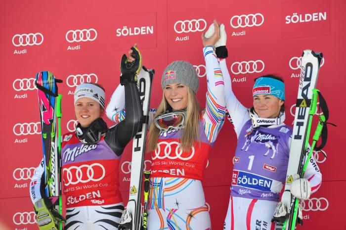 Siegerbild der Damen - Saison 2011/12