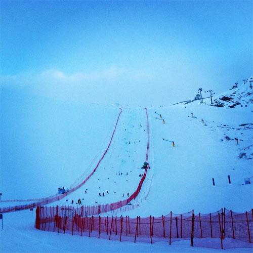 © facebook / FIS Alpine World Cup Tour / Aktueller Blick auf den Rennhang