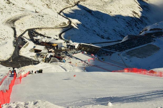© Ch. Einecke (CEPIX) / Auf dem Weltcuphang in Sölden wurde am Freitag kräftig trainiert.