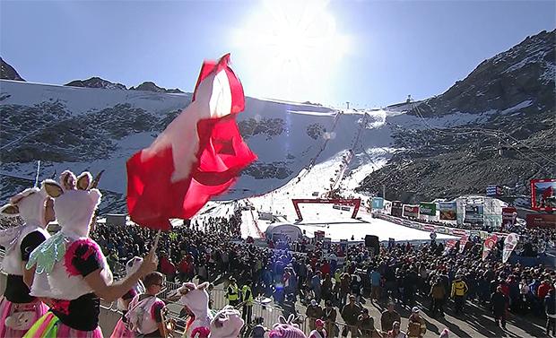Sonnenschein und Partystimmung bestimmten Ski Weltcup Auftakt in Sölden