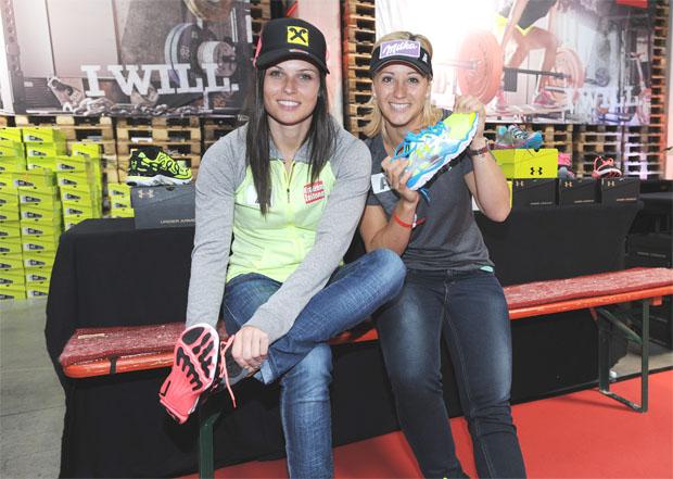 Anna Fenninger und Michaela Kirchgasser. (Foto: ÖSV)