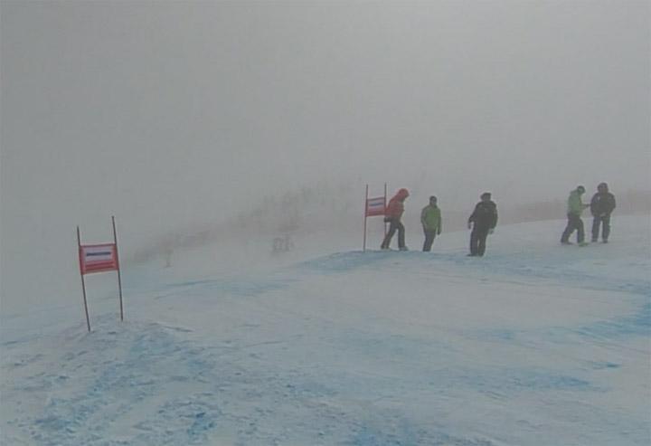 Nebel in St. Moritz