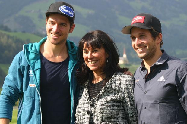 Felix Neureuther, Martha Schultz und Dominik Stehle (Foto: Walter Schmid / Skiweltcup.TV)