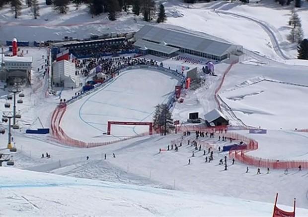1. Abfahrtstraining der Damen in St. Moritz