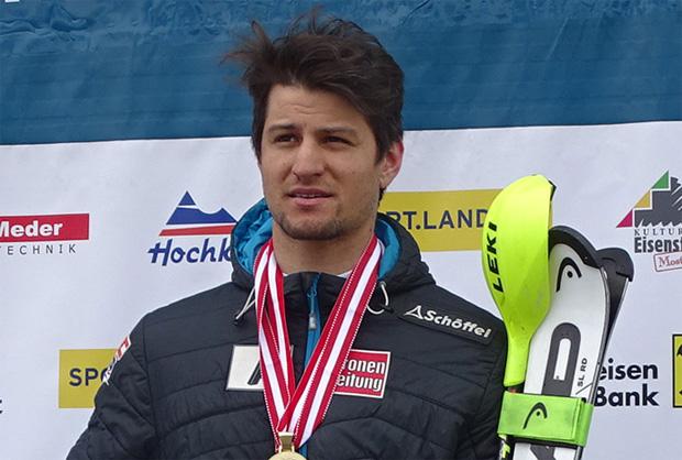 Österreichische Meisterschaften: Johannes Strolz gewinnt auch Riesentorlauf