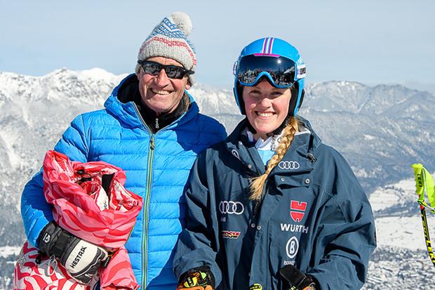 Papa Hans mit Tochter Carina Stuffer (© Paul Foto)