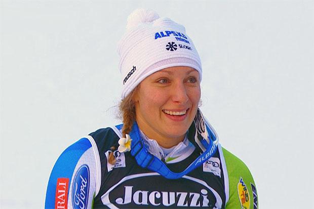 Ilka Štuhec hat beim ersten Cortina-Abfahrtstraining knapp die Nase vorn