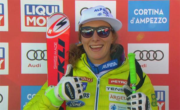 Ilka Stuhec feiert ersten Super-G Weltcupsieg in Cortina d'Ampezzo