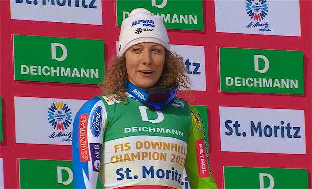 Abfahrts-Weltmeisterin 2017 - Ilka Stuhec kehrt mit schönen Erinnerungen nach St. Moritz zurück