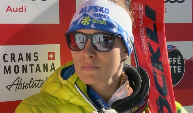 Ilka Stuhec gewinnt auch Super-G in Crans-Montana