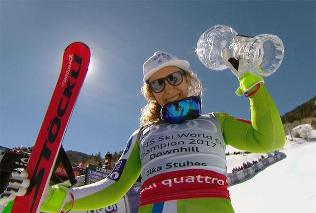 Ilka Štuhec holt sich mit Abfahrtswertung zweite kleine Kugel in diesem Winter