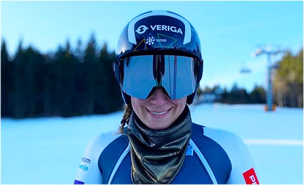 Slowenische Speedkönigin Ilka Stuhec baut auf Servicemann Sepp Lauber (Foto: © Ilka Stuhec / Instagram)