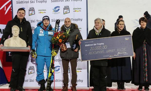 """Zum zweiten Mal: """"Südtiroler Ski Trophy"""" für Aleksander Aamodt Kilde (Foto: Saslong.org)"""