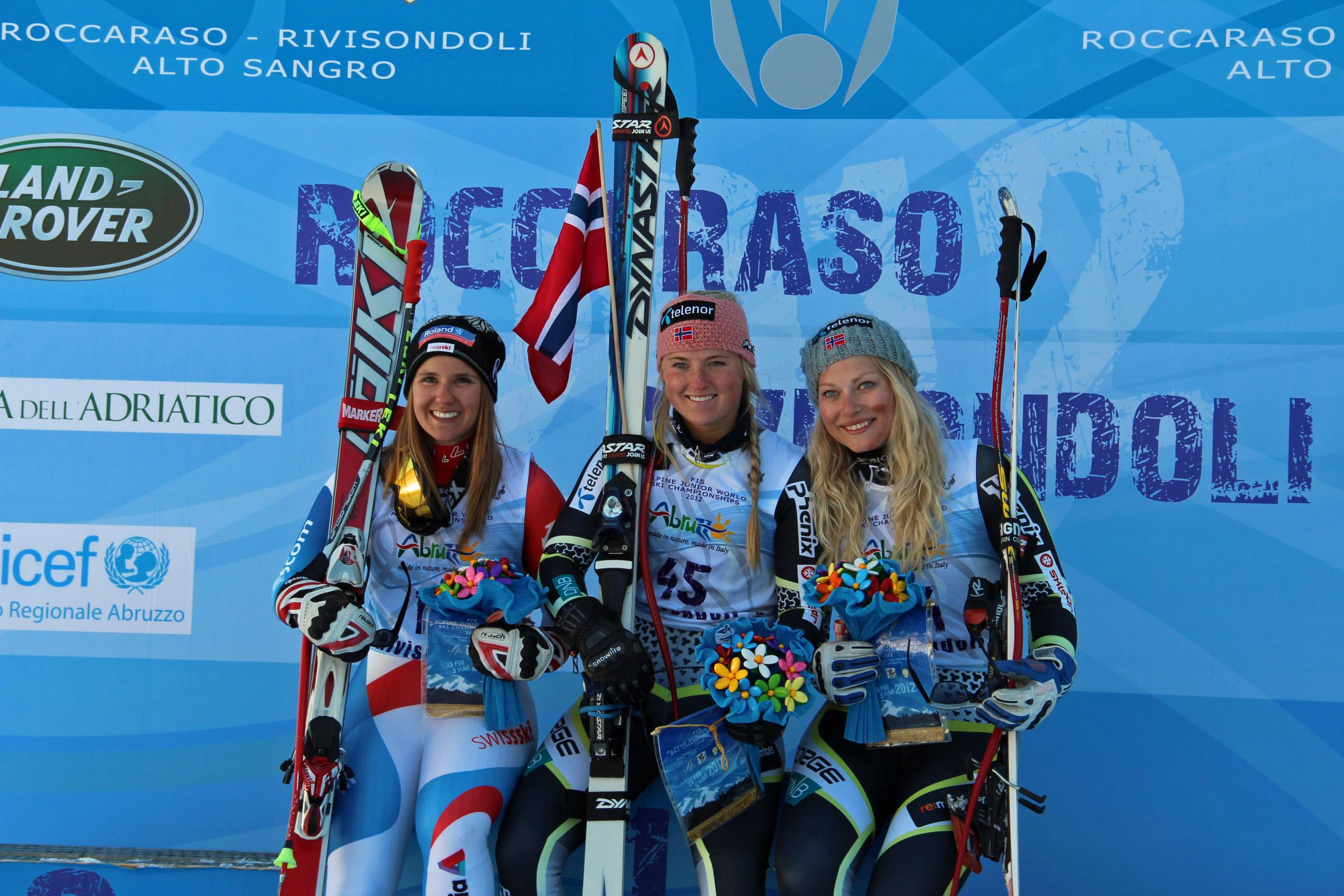Joana Hählen  (SUI), Annie Winquist (NOR), Ragnhild Mowinckel (NOR)