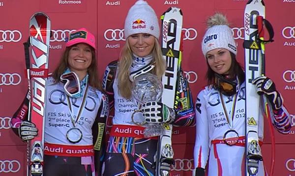 Lindsey Vonn holt in Schladming die 16. Weltcupkugel