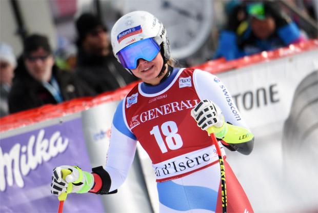 Corinne Suter lässt mit Bestzeit beim 2. Abfahrtstraining in Cortina aufhorchen (© HEAD / AGENCE ZOOM)