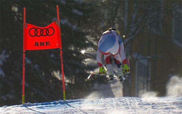 Corinne Suter sprang auf Platz zwei