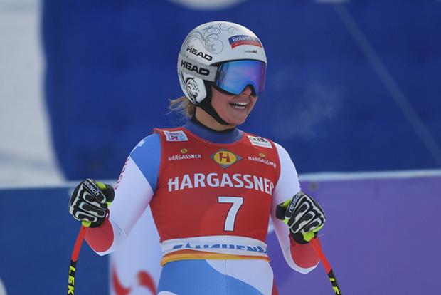 Erster Weltcup-Sieg für Corinne Suter (Foto: © Ch. Einecke (CEPIX))