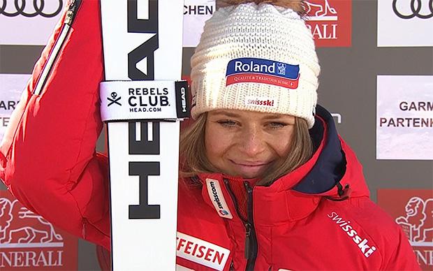 Corinne Suter feiert ersten Sieg im Super-G in Garmisch-Partenkirchen