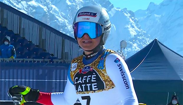 Corinne Suter geht in Val di Fassa als Abfahrtsweltmeisterin 2021 an den Start.