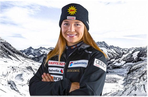 Jasmina Suter entscheidet die EC-Super-G Disziplinen-Wertung für sich (Foto: © Swiss-Ski.ch)