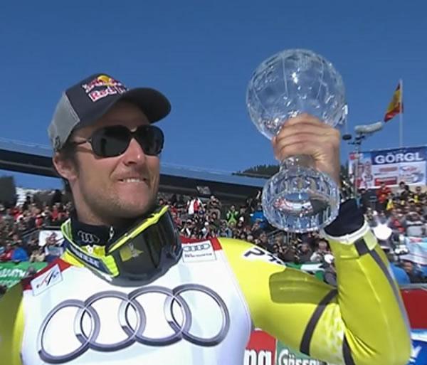 Aksel Lund Svindal gewinnt Super G Kugel