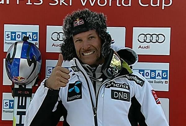 Aksel Lund Svindal gewinnt 1. Abfahrt der Herren in Lake Louise