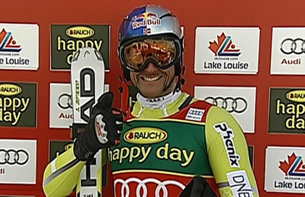 Aksel Lund Svindal gewinnt Super G in Lake Louise