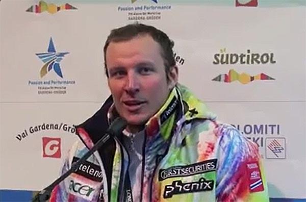 Aksel Lund Svindal bei der Pressekonferenz