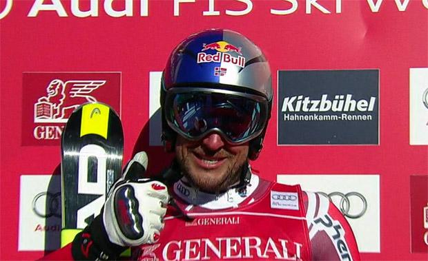 Aksel Lund Svindal gewinnt Super G von Kitzbühel