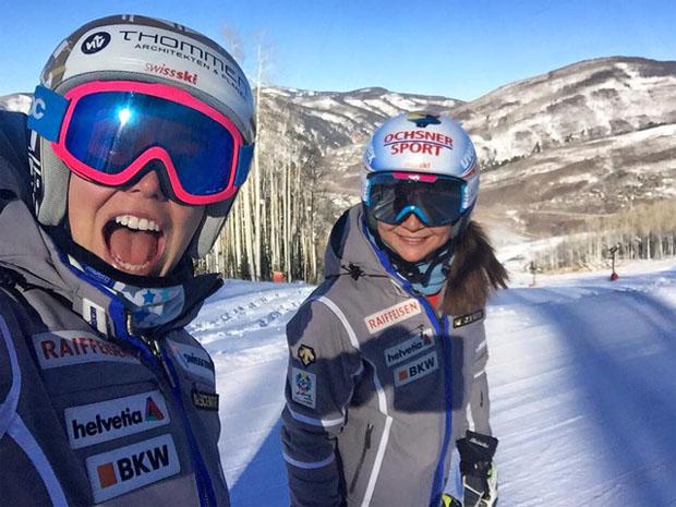 © swiss-ski.ch / Michelle Gisin und Jasmina Suter in Vail
