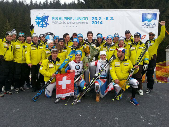 © swiss-ski.ch / Das Ziel des Swisscom Junior Team 2015: Die Teilnahme an der Junioren WM 2015 in Hafjell, und Medaillen, Medaillen, Medaillen!