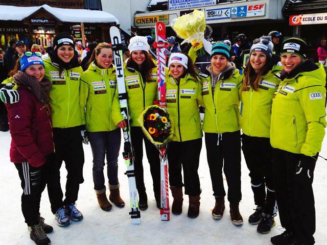 © swiss-ski.ch / Erfreuliche Zwischenbilanz: Nach rund 2/3 aller Rennen erzielten die Ladies bislang mehr Siege und Podestplätze als in der ganzen vorangegangenen Saison.