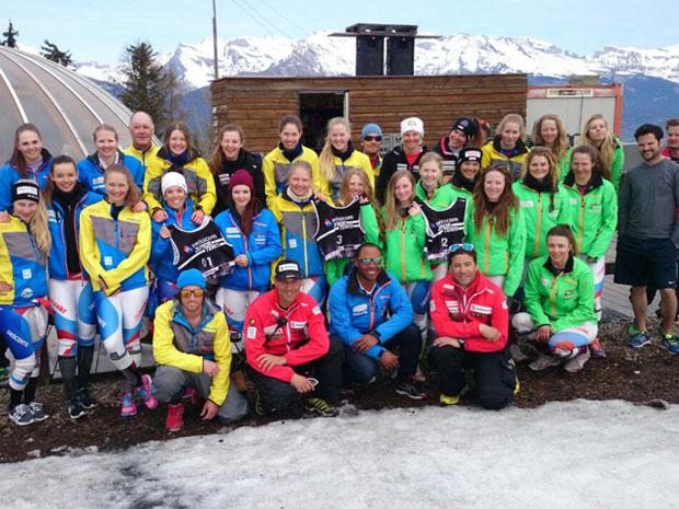 © swiss-ski.ch / Ein voller Erfolg: Das Speedtraining des Swisscom Junior Teams in Veysonnaz.