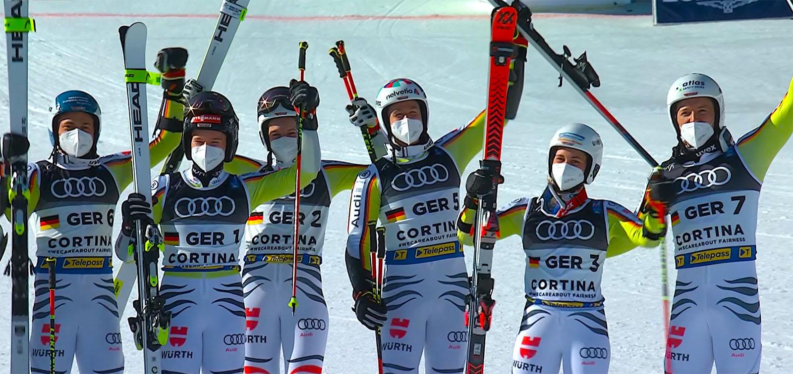 Ski-WM 2021: Team Deutschland holt mit Emma Aicher Silber im Team Event