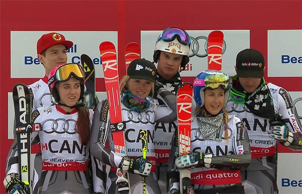 Team Kanada - WM Silber Team Wettbewerb - Candace Crawford, Erin Mielzynski, Marie-Pier Prefontaine, Phil Brown, Trevor Philp, & Erik Read.