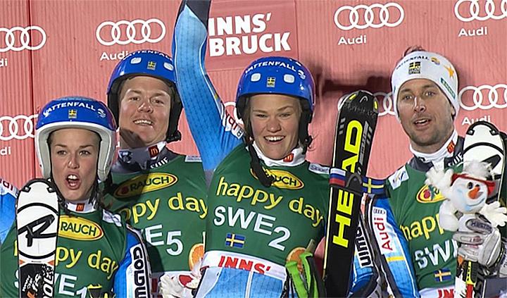 Schweden gewinnt Nations Team Event in Innsbruck