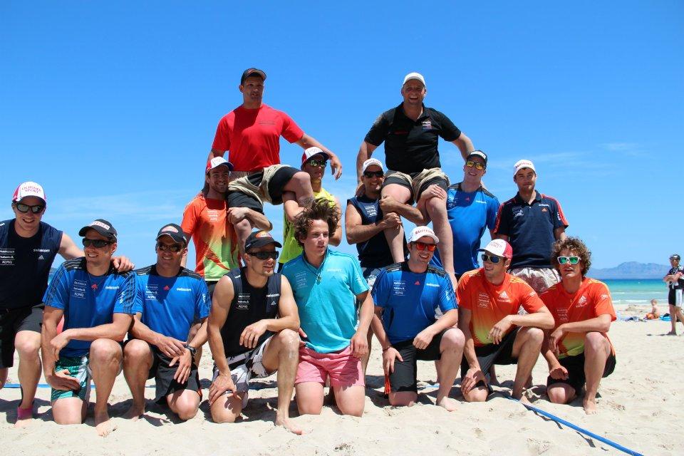 © swiss-ski.ch  / Das ganze Team weiss die Abwechslung im Training und den Besuch der beiden Schwinger zu schätzen
