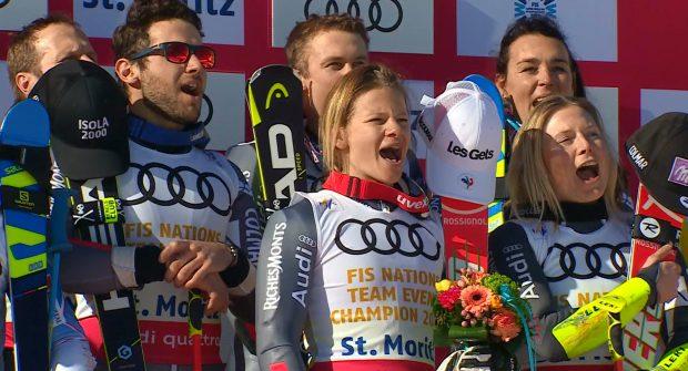 Bei der SKI WM 2017 in St. Moritz, sicherte sich Frankreich den Weltmeistertitel im Team Event