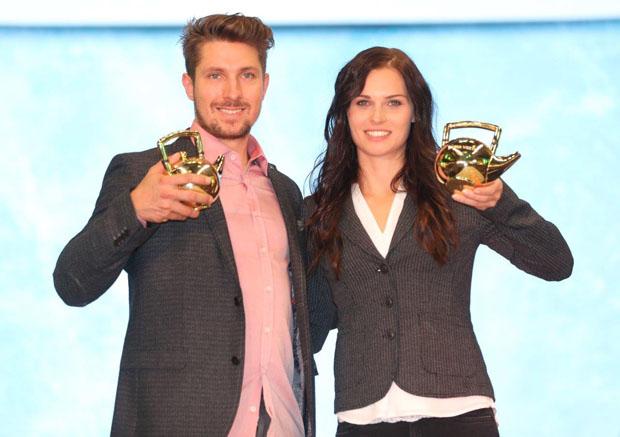 Marcel Hirscher und Anna Veith (TEEKANNE Österreich GmbH/APA-Fotoservice/Neumayr)