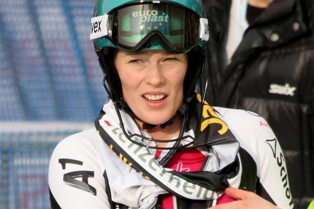 © Gerwig Löffelholz  /  Carmen Thalmann entscheidet FIS-Slalom auf der Diavolezza für sich